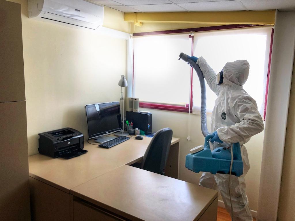 desinfección legionella aire acondicionado